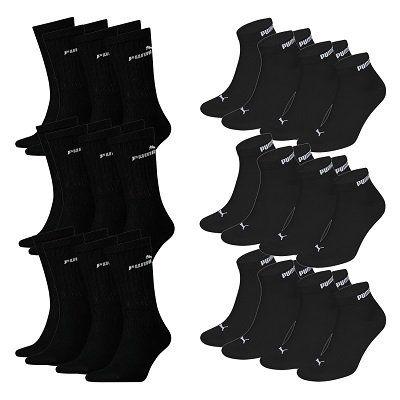 19x Puma Socken (Classic Sport + Quarter Clyde) für 29,50€