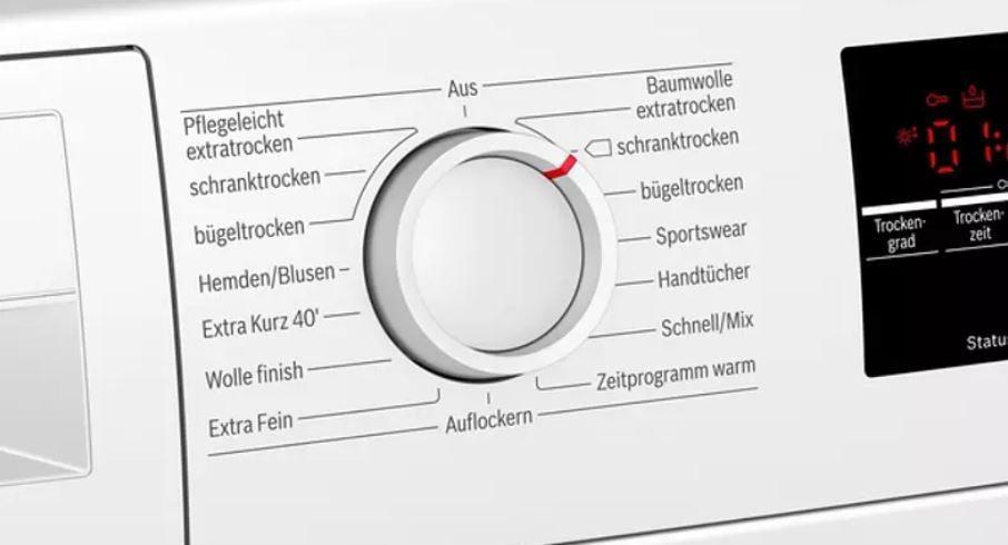 BOSCH WTR85T30 Wärmepumpentrockner mit 8.0 kg und EEK A++ für 508,90€ (statt 580€)