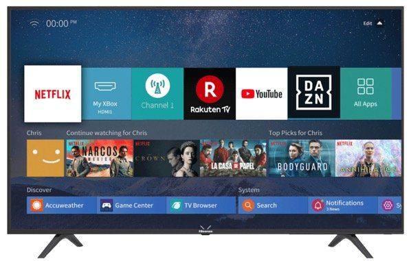 HISENSE H55B7100   55 Zoll UHD Fernseher mit Smartfunktionen ab 289€ (statt 399€)