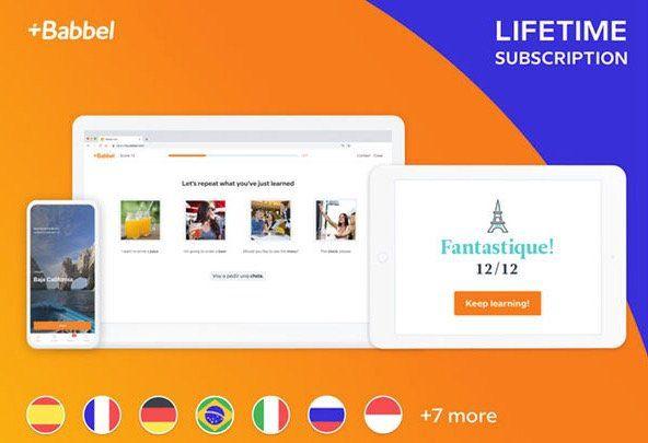 Babbel Lifetime Zugang zu allen Sprachen für 87€