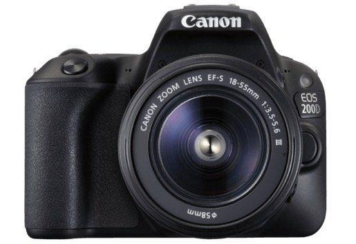 Canon EOS 200D   24MP DSLR Kamera mit Objektiv, WLAN + Touchscreen für 444€ (statt 600€)