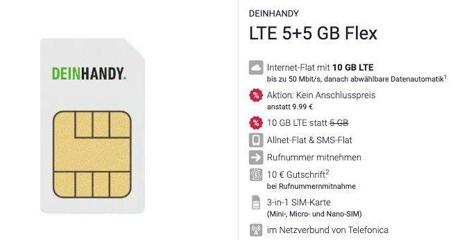 O2 Allnet Flat mit 10GB LTE für 9,99€ (statt 23€) + mtl. kündbar + keine AG