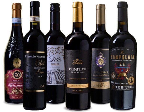 Abgelaufen! Wein Probierpaket Italia mit sechs verschiedenen Rotweinen für 49,99€ (statt 66€)