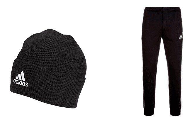 adidas Freizeitset Core Set (Hoody, Jogginghose, Shirt, Mütze) für 54,95€ (statt 63€)