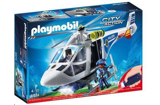 PLAYMOBIL City Action 6874 Polizei Helikopter mit LED Suchscheinwerfer für 19,99€ (statt 26€)