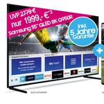 Samsung Q950RGT 8K Fernseher für 1.999€ (statt 2.756€) + gratis Galaxy S10+ inkl. Telekom DSL (50 Mbit) für 34,95€mtl.