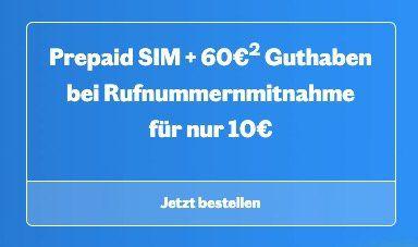 Telekom Prepaid Sim von Lebara mit 60€ Guthaben für 10€   nur bei Rufnummermitnahme