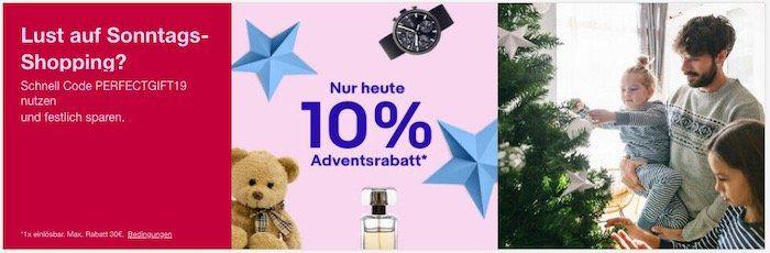eBay: Nur heute 10% Rabatt auf viele Kategorien   z.B. Spielzeug, Filme&DVDs und Games