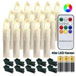 30% Rabatt auf LED-Weihnachtskerzen mit Flammeneffekt – z.B. 40 Kerzen für 25,89€ (statt 37€)