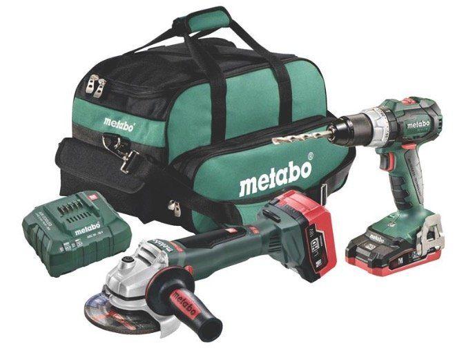 Metabo Akku Combo Set 18V (Akku Bohrschrauber & Winkelschleifer) + Akkus + Tasche für 259,95€ (statt 395€)