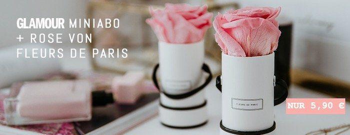 3 Ausgaben Glamour für 5,90€   dazu Rose von Fleurs de Paris geschenkt (Wert 10€)