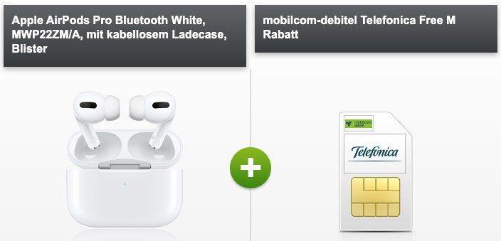 Apple AirPods Pro für 99€ + o2 Flat mit 10GB LTE für 14,99€ mtl.