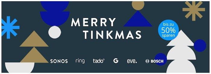 Tink Merry Tinkmas Sale mit Smart Home Deals   z.B. 2x SONOS One SL + Home Mini für 329€ (statt 361€)