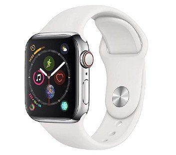 Ausverkauft! Apple Watch Series 4 (40mm, LTE) mit Edelstahlgehäuse und Sportarmband für 394€ (statt 640€)