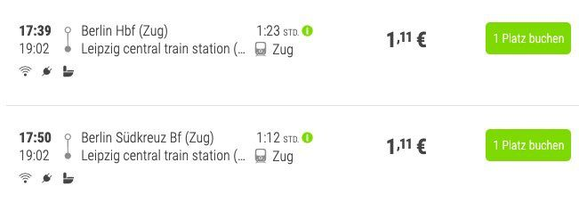 FlixTrain: von Berlin nach Leipzig am 17.12. für nur 1,11€