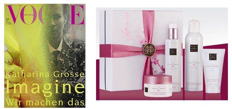 3 Ausgaben Vogue für 25€ + gratis Renewing Ritual Geschenkset (Wert 30€)
