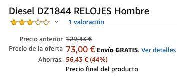 Diesel Rasp Herrenuhr (DZ1844) für 77,29€ (statt 136€)