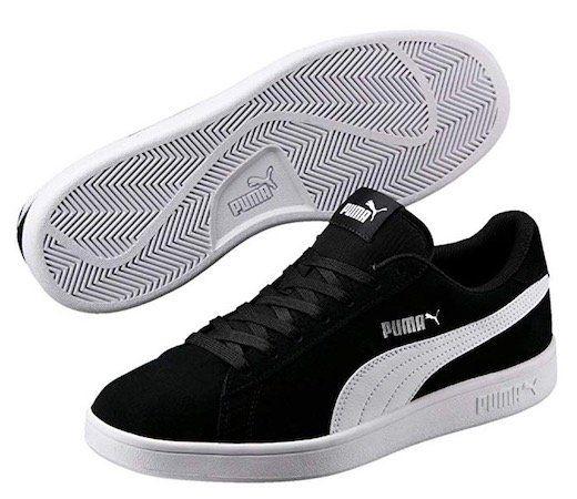 Puma Smash V2 Low Top Sneaker in Schwarz für 15,99€ (statt 29€)   Prime