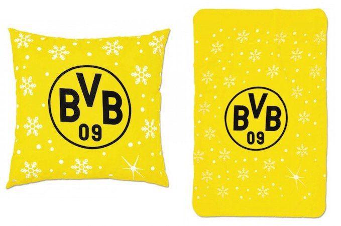 Abgelaufen! BVB Weihnachtskissen & Decke für 15€ (statt 35€)