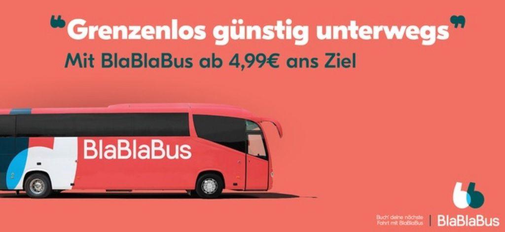 BlaBlaBus Wertgutscheine für Fernbusreisen mit bis zu 45% Rabatt bei Groupon