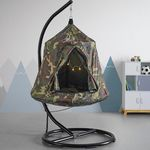 Vorbei! Bessagi Hängesessel inkl. Stahlgestell + Kissen im Camouflage-Design für 64,60€ (statt 149€)