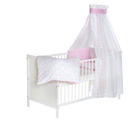 Schardt Baby Komplettbett Lenny in Weiß mit Herzchen für 144,99€ (statt 273€)