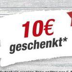 50€ toom Baumarkt Wertgutschein + 10€ Bonus