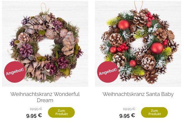 Weihnachtskränze für je 9,95€ zzgl. VSK