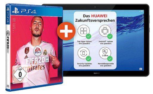HUAWEI MediaPad T5 10 LTE mit 32GB + FIFA20 (PS4) für 179€ (statt 235€)