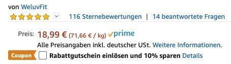 WeluvFit Sport Trinkflasche 700ml auslaufsicher und BPA Frei mit Pop up Düse für 11,39€ (statt 19€)