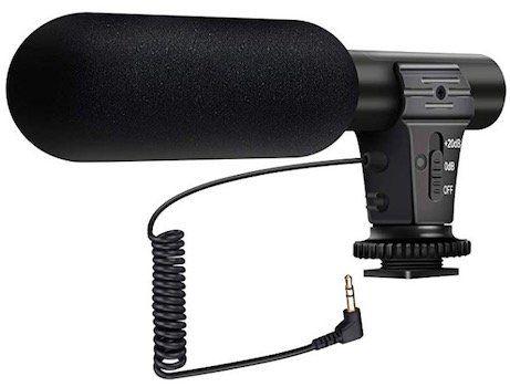 EIVOTOR Richt Mikrofon mit 3,5mm Mic Buchse + Windschutz für 11,99€ (statt 20€)   Prime