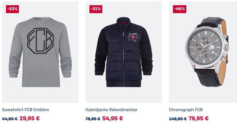 FC Bayern Shop mit bis zu 60% Rabatt im Sale   z.B. Trainingsjacke für 39,95€ (statt 70€)