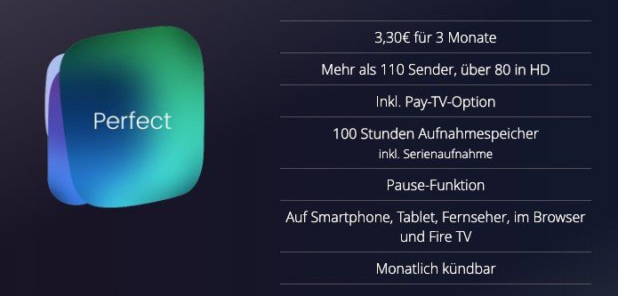 Endet heute: 3 Monate Waipu Perfect TV Streaming inkl. 100 Stunden Aufnahmespeicher für 9,99€ (statt 30€)