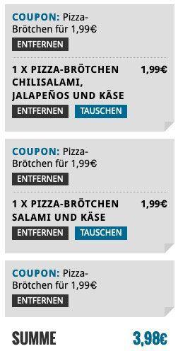 Bei Dominos heute 🍕 Pizzabrötchen für 1,99€ bestellen (statt 4€)   auch mehrfach möglich!