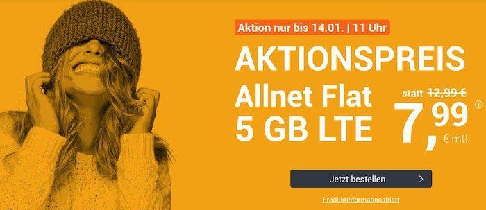 winSIM o2 Allnet mit 5GB LTE für 7,99€mtl. + 10€ Wechselbonus