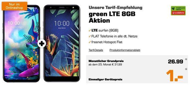 LG G8X ThinQ + LG K40 für 1€ + Allnet Flat im Vodafone Netz mit 8GB LTE für 26,99€ mtl.