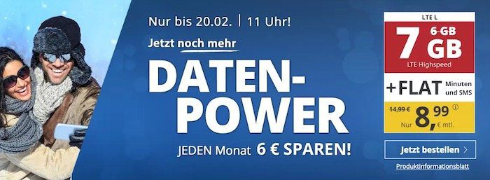 o2 Allnet Flat von PremiumSIM mit 7GB LTE für 8,99€ mtl. + monatlich kündbar