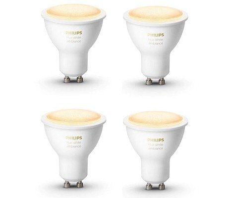 4er Pack Philips Hue White Ambiance GU10 Bluetooth Leuchten für 64,89€ (statt 75€)