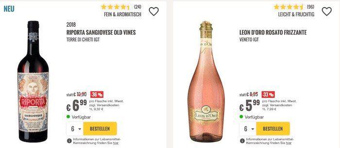 12 Flaschen Wein kaufen und 2 geschenkt bekommen   auch auf reduzierte Weine im Sale