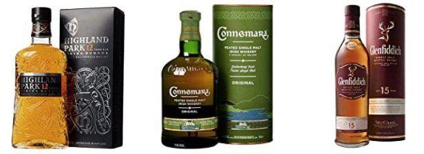 Whisky Deals bei Amazon   z.B. Glenfiddich 12 Jahre für 22,99€ oder Bushmills 10 Jahre für 23,99€