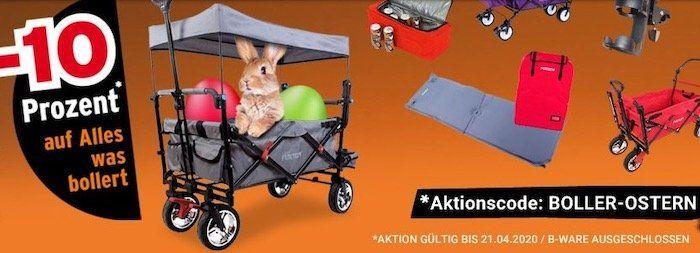 10% Rabatt auf alle Fuxtec Bollerwagen   z.B. FX CT700 für 151,20€ (statt 159€)