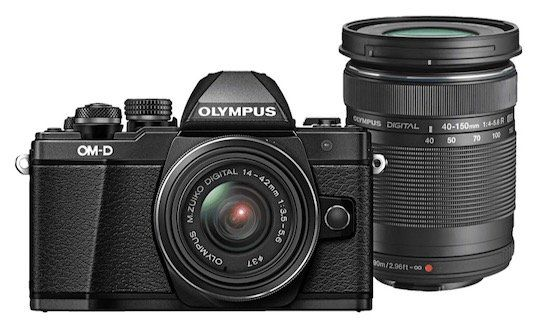 Olympus OM D E M10 Mark II   Systemkamera + 14 42 mm II R + 40 150 mm R Objektiv für 477€ (statt 599€)