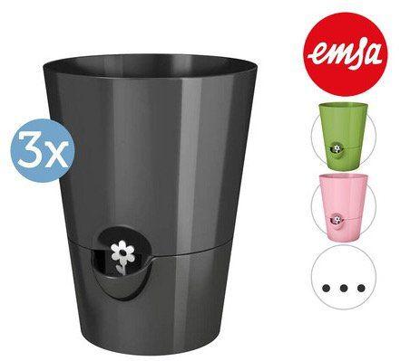 3er Set Emsa Kräutertöpfe mit automatischer Bewässerung für 23,90€ (statt bis zu 31€)