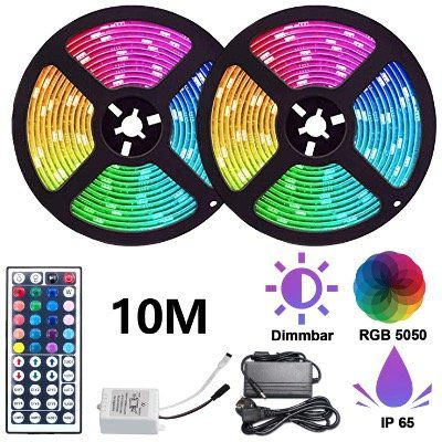 2er Pack: Hengda RGB LED Stripes 5m 5050 LEDs inkl. Fernbedienung für 17,01€ (statt 27€)