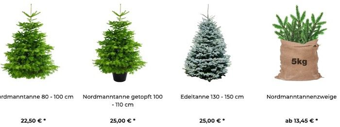 Premium Weihnachtsbäume: Nach Hause liefern lassen mit Wunschdatum & 25% Exklusivgutschein