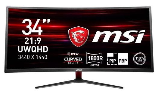 MSI Optix MAG341CQ Gaming Monitor mit UWQHD + 100Hz für 299€ (statt 403€)