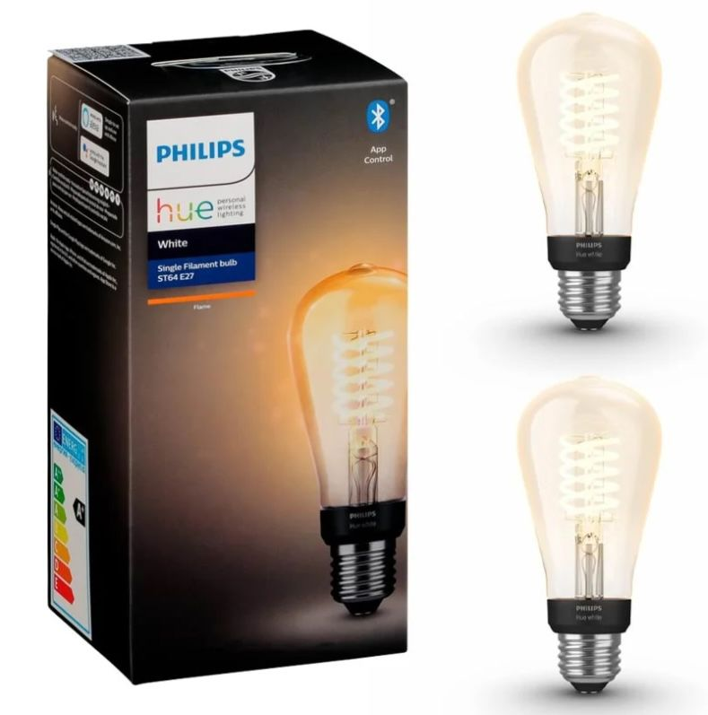 2er Pack Philips Hue White LED-Filament Edison E27 für 31,90€ (statt 42€)