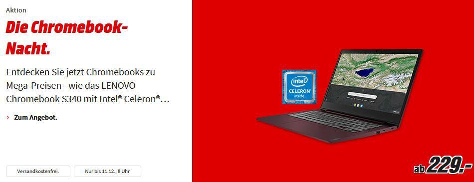 MM Chromebook Nacht bis 8 Uhr: z.B. HP Chromebook x360 14 Convertible für 299€ (statt 434€)