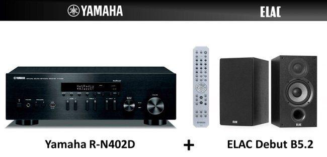 YAMAHA ELAC Stereo HiFi Paket mit Receiver und Lautsprecher ab 476,42€ (statt 555€)