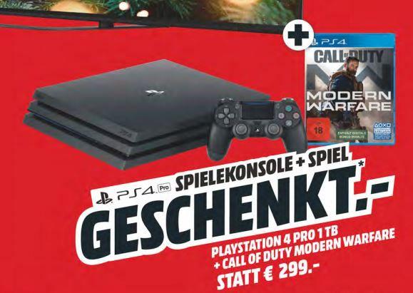 Sony KD 65AG8   65 Zoll OLED TV + PS4 Pro 1TB + Call of Duty: Modern Warfare für 1.999€ (statt 2.219€)